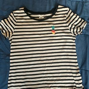 Old Navy pineapple striped t-shirt